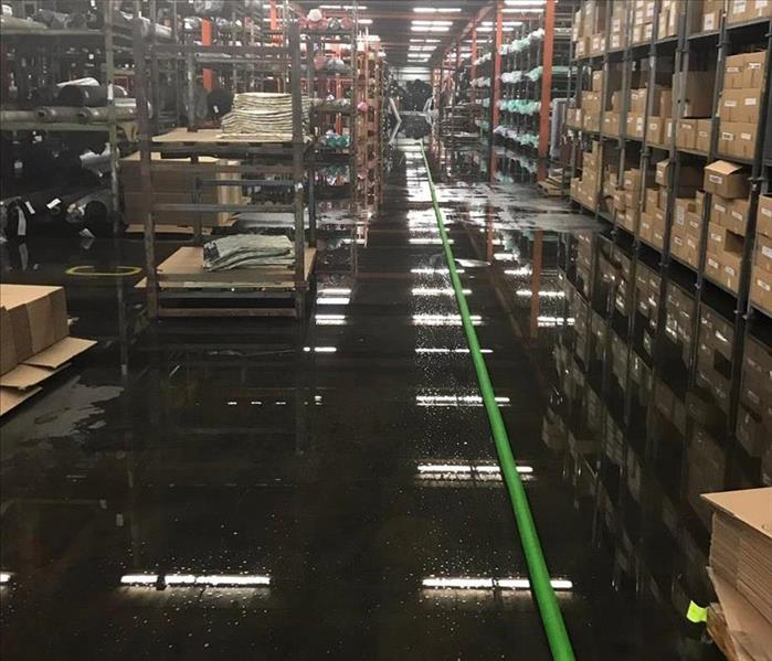 Water Damage at Textile Factory in Lyman, SC Before