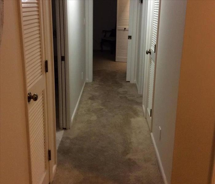 Flooded Hallway in Spartanburg, SC Before